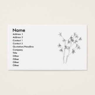 Bamboo-2, Name, Address 1, Address 2, Contact 1... Business Card