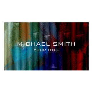 Bamboo Acrylic Painting #2 Business Card Templates