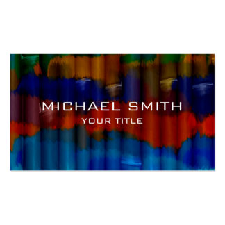 Bamboo Acrylic Painting #3 Pack Of Standard Business Cards