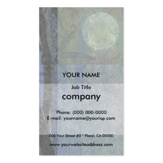 Bamboo and Blossoms Blue Pack Of Standard Business Cards