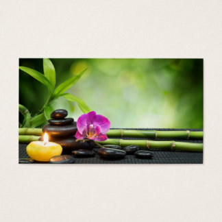 Bamboo and Candle Therapy Business Card
