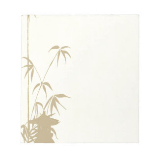 Bamboo and Japanese Lantern Notepad