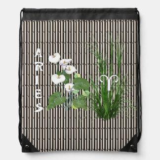 Bamboo and Lily Aries Drawstring Backpacks