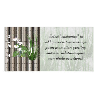 Bamboo and Lily Gemini Customised Photo Card