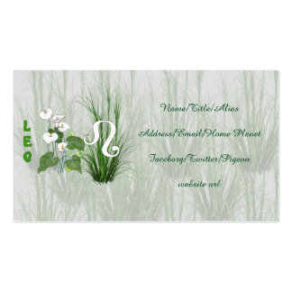 Bamboo and Lily Leo Pack Of Standard Business Cards