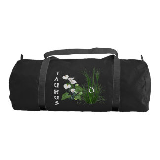 Bamboo and Lily Taurus Gym Duffel Bag