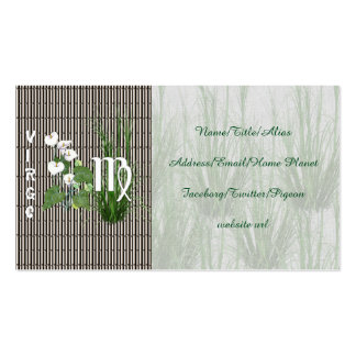 Bamboo and Lily Virgo Pack Of Standard Business Cards