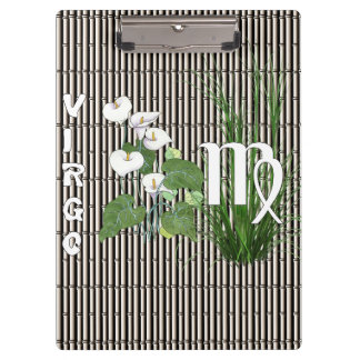Bamboo and Lily Virgo Clipboards