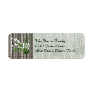 Bamboo and Lily Virgo Return Address Label