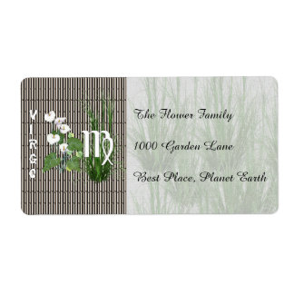 Bamboo and Lily Virgo Shipping Label