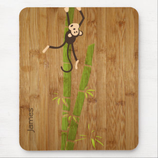 Bamboo and Monkey Funny Mousepad