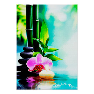 Bamboo and orchis poster