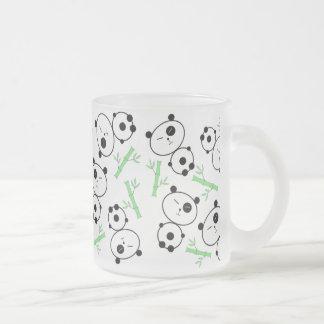 Bamboo and Pandas Frosted Glass Coffee Mug