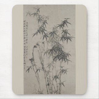 Bamboo and Rocks - Zheng Xie (1755 - 1765) Mouse Mat