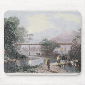 Bamboo Aqueduct at Hong Kong, engraved by Henry Ad Mouse Mat