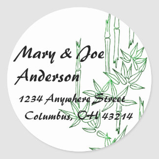 Bamboo Asian Themed Return Address Labels