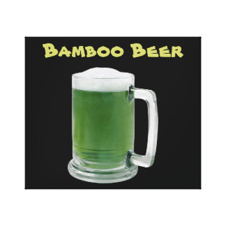 Bamboo Beer Canvas Print
