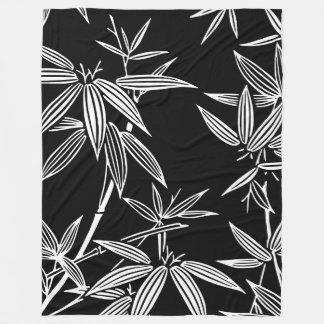 Bamboo Black & White Fleece Blanket
