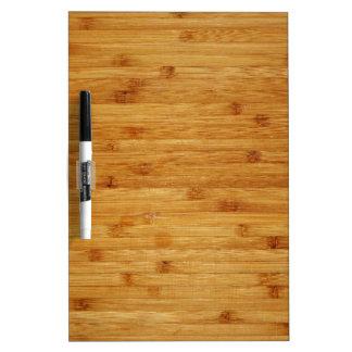Bamboo Butcher Block Dry-Erase Whiteboard