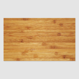 Bamboo Butcher Block Rectangular Sticker