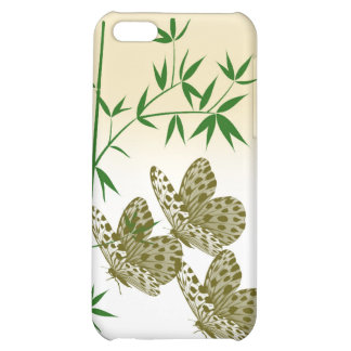 Bamboo Butterflies Iphone 4/4s Hard Shell Case iPhone 5C Covers