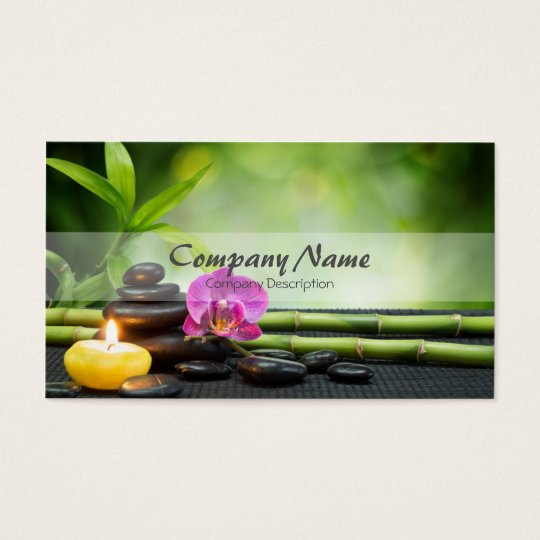 Bamboo Candle Stone Orchid Spa Massage Therapy Business