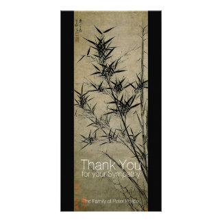 Bamboo Chinese Painting Sympathy Thank You Personalized Photo Card