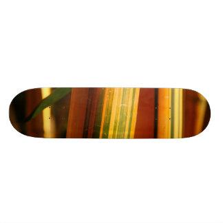 Bamboo closeup skate board