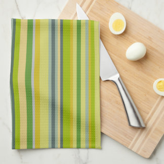 Bamboo Colors Multi-Stripe Pattern Towels