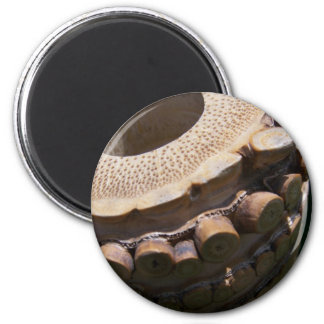 Bamboo Flute 6 Cm Round Magnet
