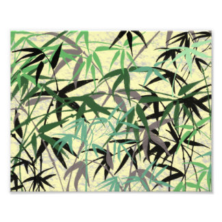 Bamboo Foliage, Leaves, Shoots - Green Yellow Photo Print
