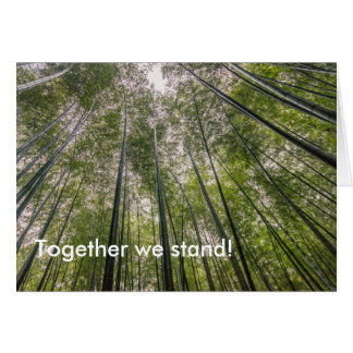 Bamboo forest card, Together we stand Greeting Card