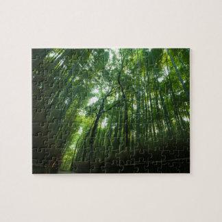 Bamboo Forest in Arashiyama, Sagano, Kyoto, Japan Jigsaw Puzzle