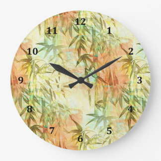 Bamboo Forest Painting Large Clock