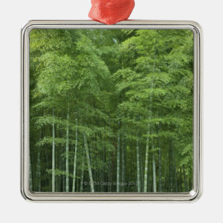 Bamboo Forest Silver-Colored Square Decoration