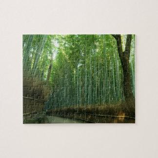 Bamboo Forrest in Arashiyama, Sagano, Kyoto, Japan Jigsaw Puzzle