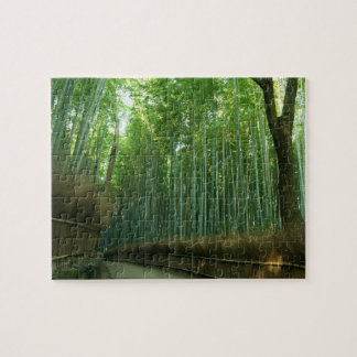 Bamboo Forrest in Arashiyama, Sagano, Kyoto, Japan Puzzle