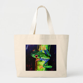 Bamboo Frog Large Tote Bag