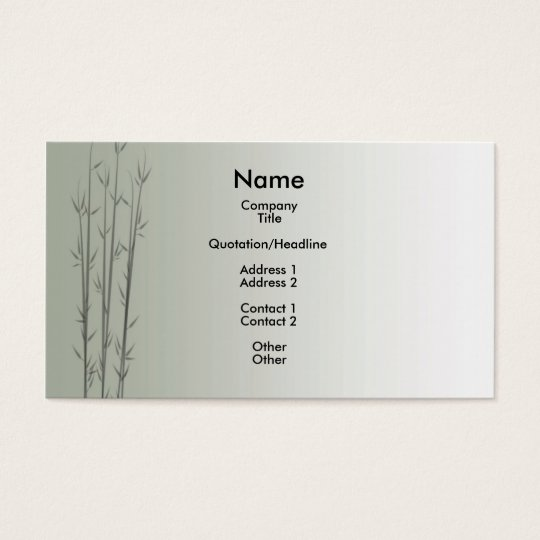 Bamboo/Fung Shui Business Card