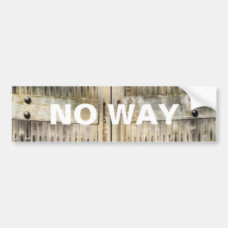 Bamboo gates bumper sticker
