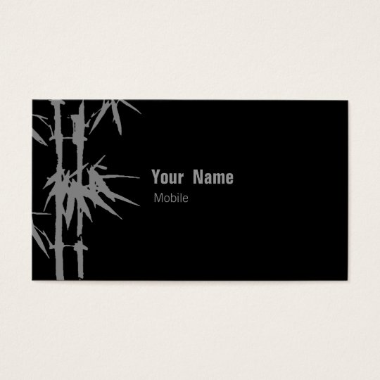 Bamboo Green Business Card