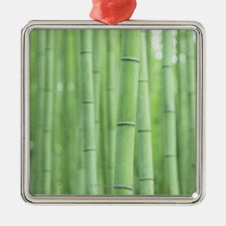 Bamboo Grove Silver-Colored Square Decoration