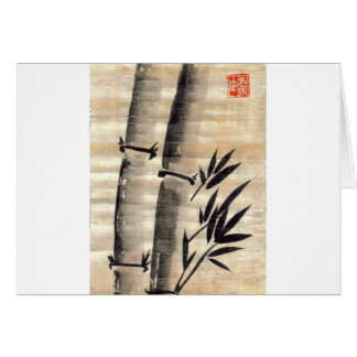 Bamboo Ink on Papyrus Art Card