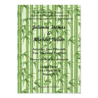 "Bamboo 5"" X 7"" Invitation Card"