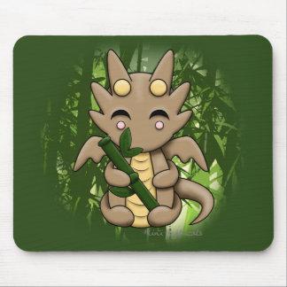 Bamboo Kawaii Dragon Mousepad