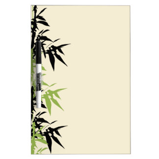 Bamboo Leaves Dry Erase Board