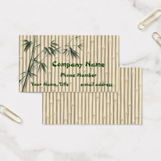 Bamboo leaves Screen Business Card