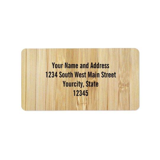 Bamboo-Look Address Label