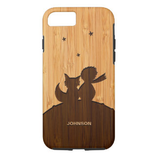 Bamboo Look & Engraved Little Prince Fox Pattern iPhone 7 Case