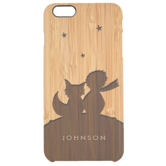 Bamboo Look & Engraved Little Prince with Fox Clear iPhone 6 Plus Case